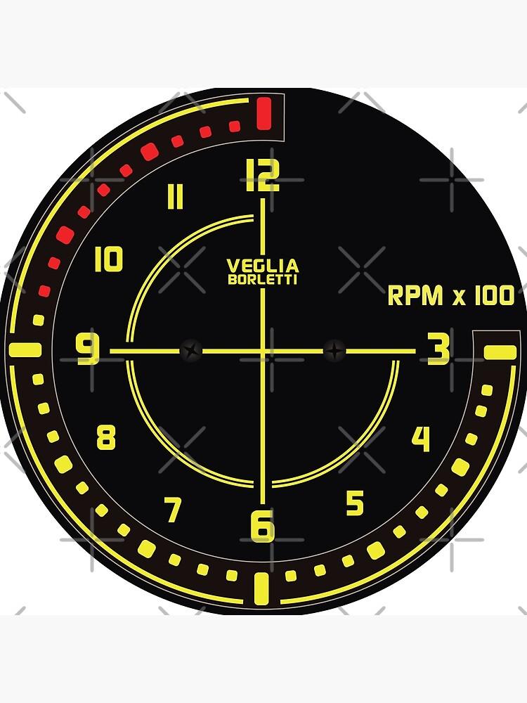 Lancia Delta Tachometer Clock by AutomotiveArt