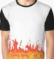 urban foot-ball logo fire Graphic T-Shirt