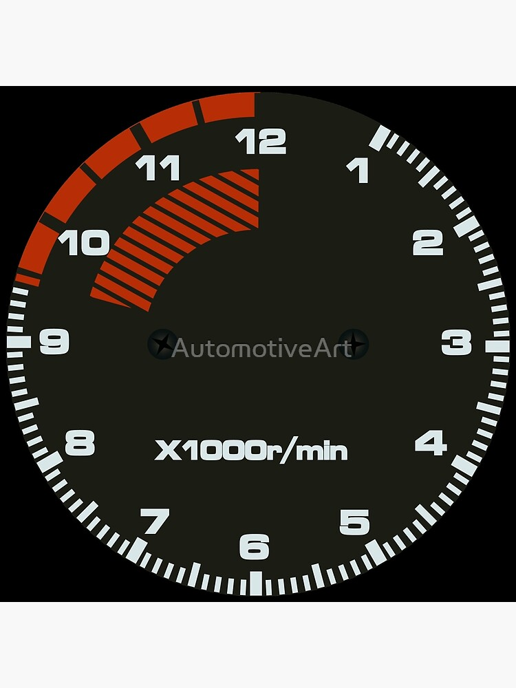 Type R Tachometer Clock by AutomotiveArt
