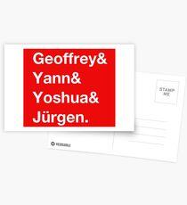 Geoffrey & Yann & Yoshua & Jürgen (white) Postcards