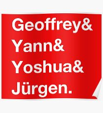 Geoffrey & Yann & Yoshua & Jürgen (white) Poster