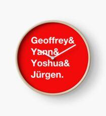 Geoffrey & Yann & Yoshua & Jürgen (white) Clock