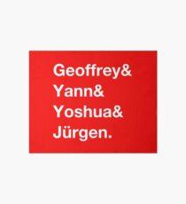 Geoffrey & Yann & Yoshua & Jürgen (white) Art Board