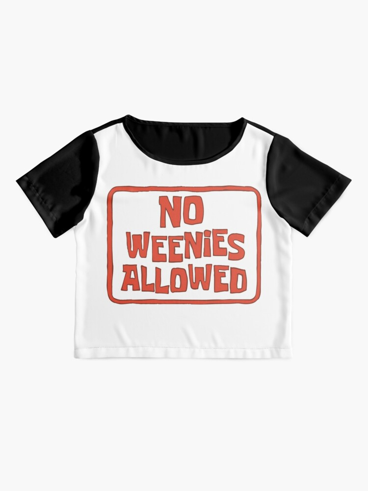 Alternate view of No Weenies Allowed - Spongebob Chiffon Top