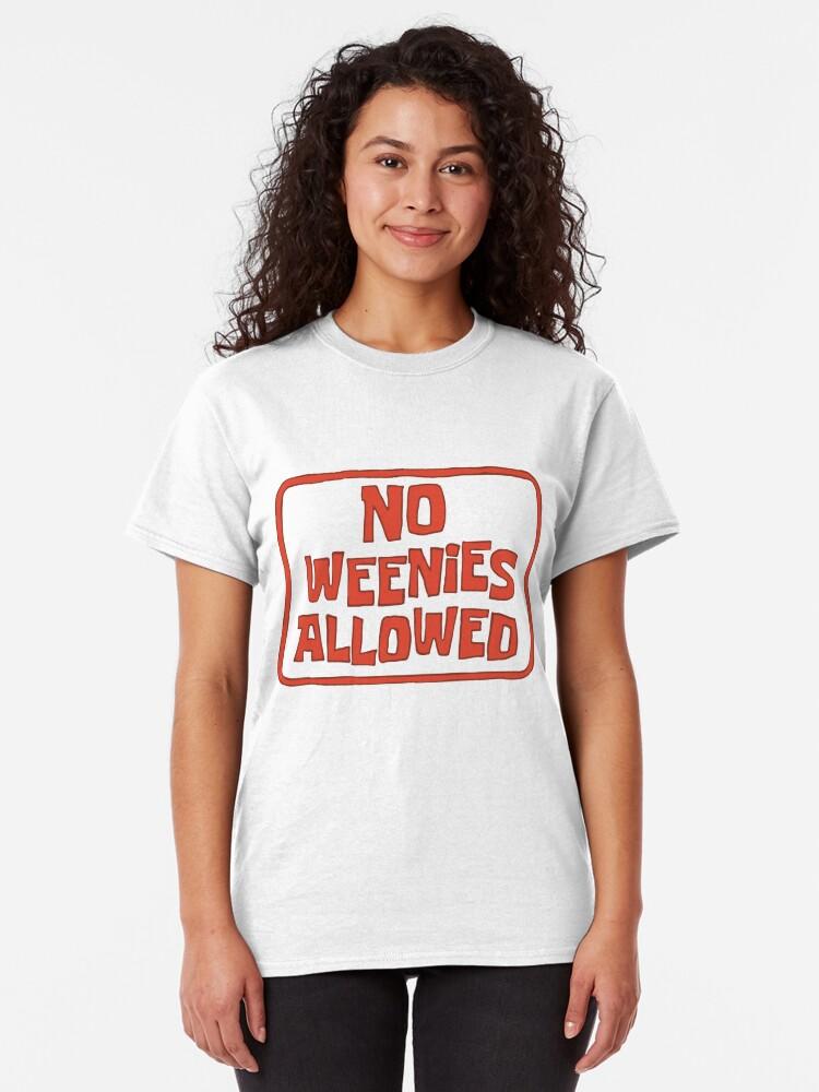 Alternate view of No Weenies Allowed - Spongebob Classic T-Shirt