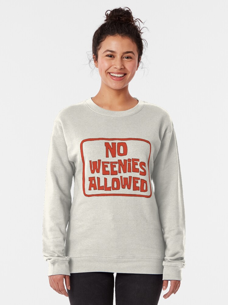 Alternate view of No Weenies Allowed - Spongebob Pullover Sweatshirt