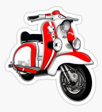 Scooter T-shirts Art: TV 175 Series 1 Mod style racer. Sticker