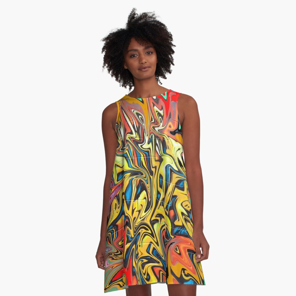 Graffiti  A-Line Dress Front