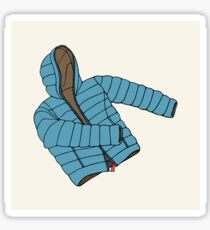 Blue down jacket Sticker