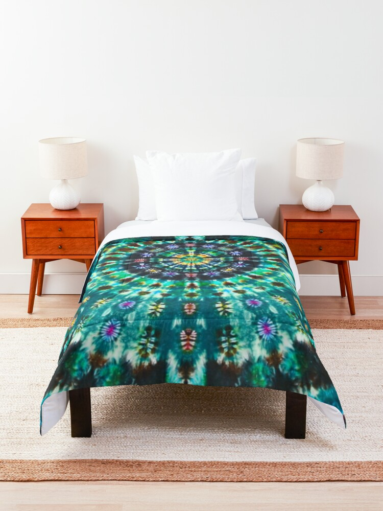 Alternate view of Tie-Dye Turquoise Comforter