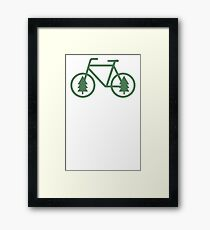 Pacific Northwest Bike - Pine Tree Bicycle - Cycling Framed Print