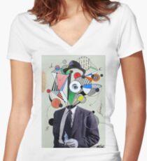 mr fiasco Women's Fitted V-Neck T-Shirt