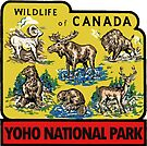 Yoho National Park British Columbia Vintage Travel Decal by hilda74