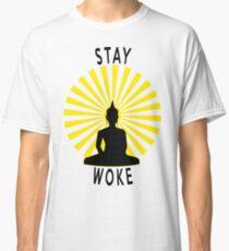 Stay Woke Meditating Buddha Classic T-Shirt