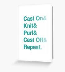 Knitting Addict - Yarn Hoarders & Needlecrafters Unite! Greeting Card