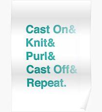 Knitting Addict - Yarn Hoarders & Needlecrafters Unite! Poster
