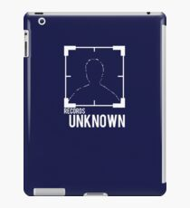 Person of Interest: records unknown iPad Case/Skin