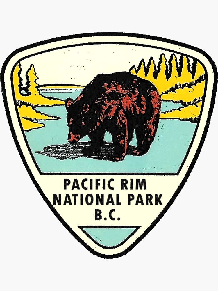 Pacific Rim National Park BC Canada Vintage Travel Decal by hilda74