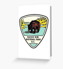 Pacific Rim National Park BC Canada Vintage Travel Decal Greeting Card