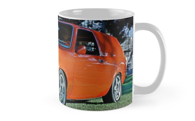 Orange Holden Gemini Panel Van Coffee Mug by Ferenghi