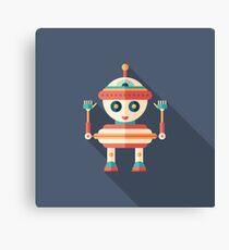 Robot Top Toy Canvas Print
