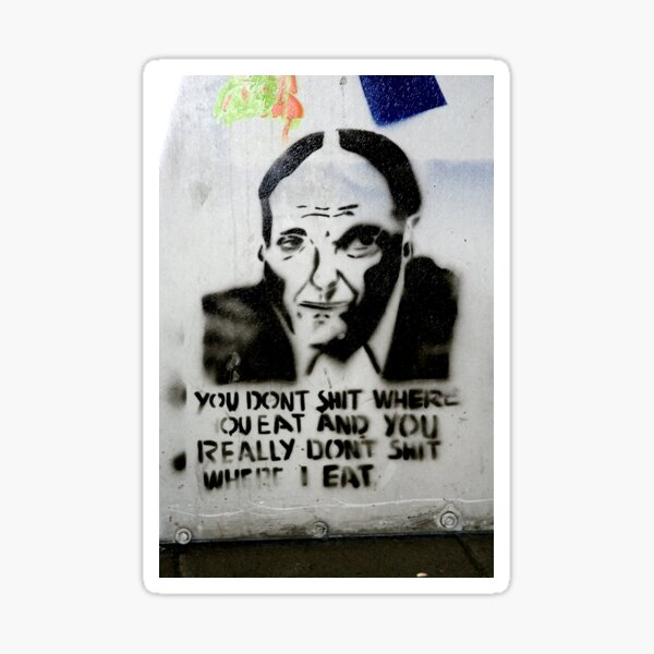 Eat - Banksy Sticker