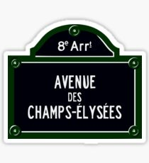 AVENUE OF CHAMPS ELYSEES, PARIS, 75008 Sticker