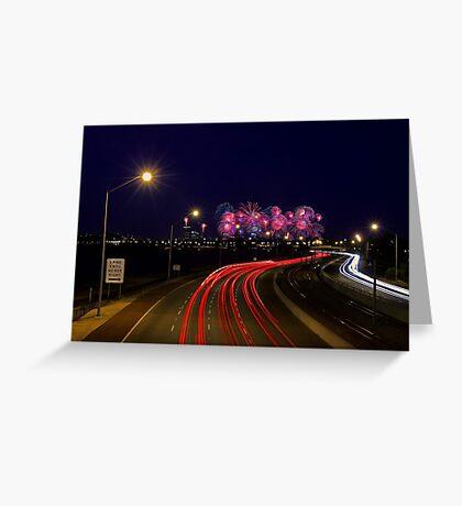 Australia Day Skyworks - Perth Western Australia  Greeting Card