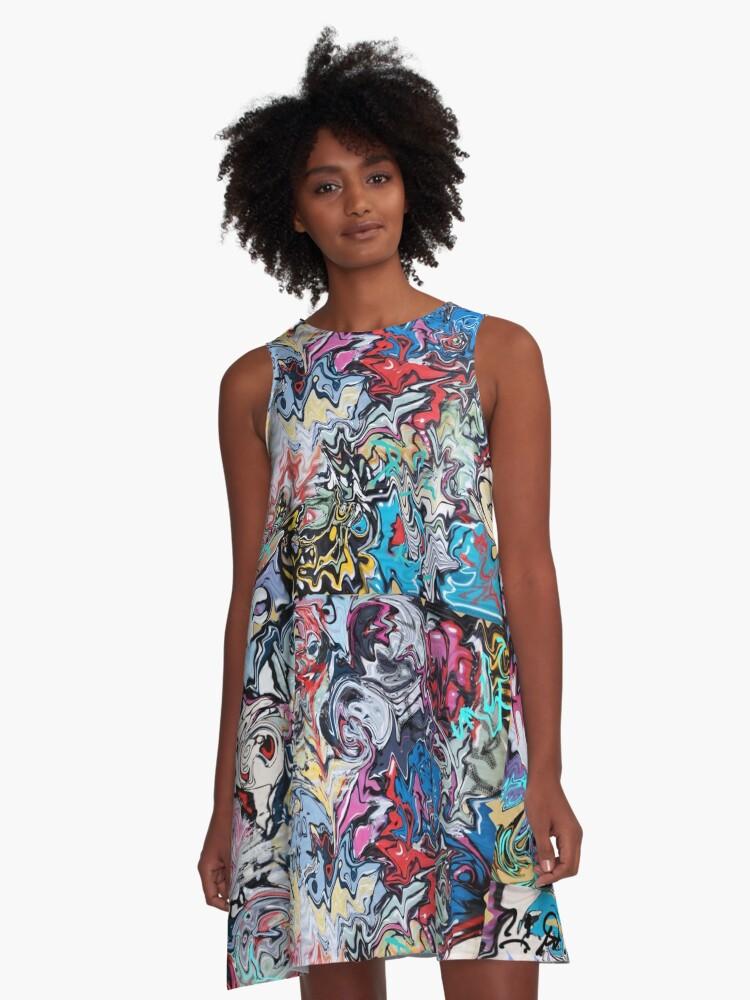 Graffiti  A-Line Dress Front
