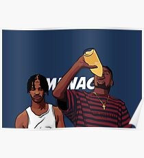 """Caine and O-Dog of Menace II Society """"Corner Store Tings"""" Poster"""
