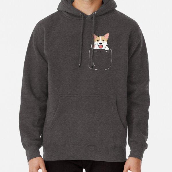 Camiseta Corgi In Pocket Cute Paws Blush Smile Puppy Emoji Sudadera con capucha