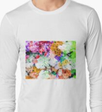 drawing and painting colorful flowers background T-Shirt
