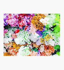 drawing and painting colorful flowers background Photographic Print