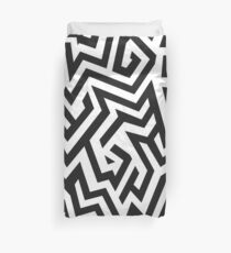 Lost in the Maze Duvet Cover