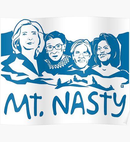 Nasty Women Blue Poster