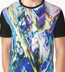 Cyberpunk City - It's raining Graphic T-Shirt