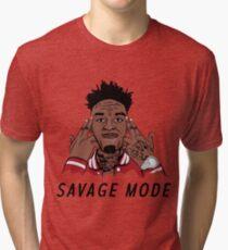 "21 Savage ""Been In Savage Mode""  Tri-blend T-Shirt"