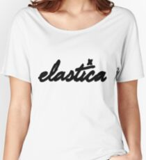 Elastica Logo (IN BLACK)  Women's Relaxed Fit T-Shirt