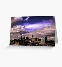 CF-5A Freedom Fighter Jet Over Mississauga [IR+UV+Vis] Greeting Card