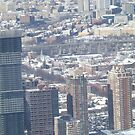 Aerial View, Snow View, Harsimus Branch Embankment, Jersey City, New Jersey by lenspiro
