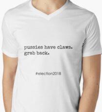 Pussies Grab Back Men's V-Neck T-Shirt