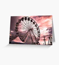 CNE Ferris Wheel At Sunset [IR+UV] Greeting Card