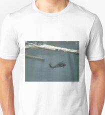 Aerial View, Snow View, Helicopter, Hudson River T-Shirt