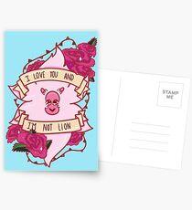 I Love You Lion Postcards