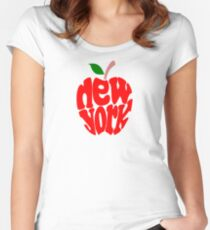 Big Apple New York Women's Fitted Scoop T-Shirt
