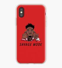 """Vinilo o funda para iPhone 21 Savage """"estado en modo salvaje"""""""