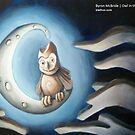 The Owl in the Moon by Byron  McBride