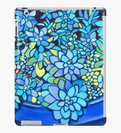 Blue Succulent iPad Case/Skin