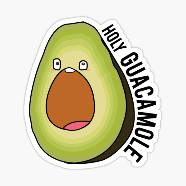 holy guacamole avocado -with text Sticker