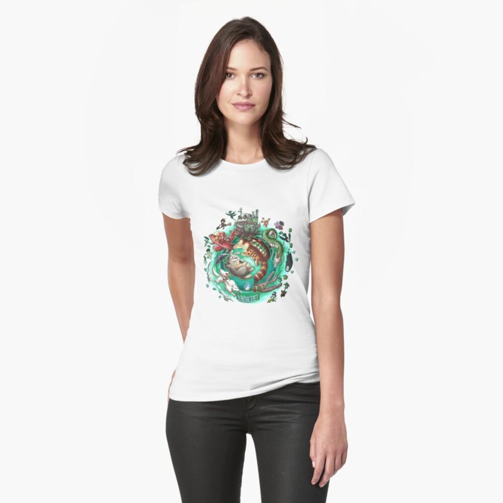 Ghibli Tribute Womens T-Shirt Front